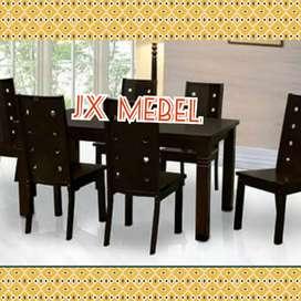 JX MEBEL Meja Makan KAYU 6 Kursi ada M 1/2 Biro