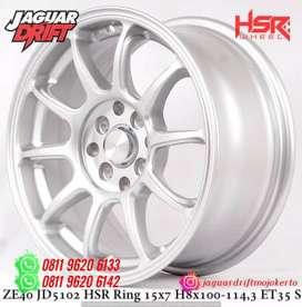 Velg Zero Pelek Hsr Ring 15 Lebar 7 Baut 4x100 & 4x114,3 Et35 Silver