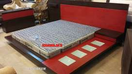 king size bed with side table dressing