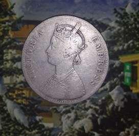 Victoria one rupee (1885)
