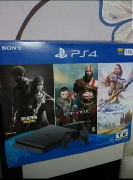 New PS4 1TB PS4 Slim (US Region 1) 3 FREE Games & 2 Extra Controller.