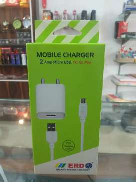 ERD TC-50 5V 2Amp Super Fast Charger with 1 Meter USB Cable all andro