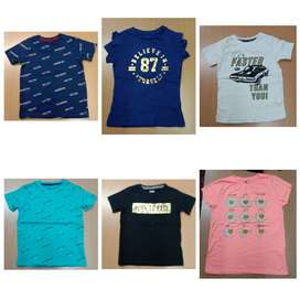 Low price Boys and girls summer tshirt and export surplus stocklot