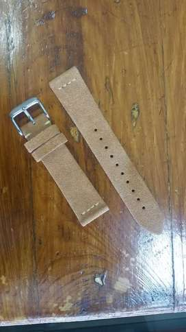 Suede Leather Strap (Cream)
