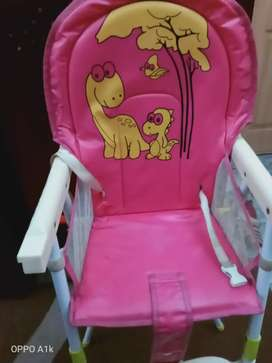 Folding dinning chair and baby sitter