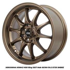 velg murah model H10843 HSR R15X7 H8X100-114,3 ET35 SMBRZ
