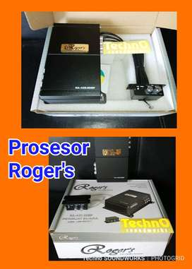 Roger prosesor processor 6 ch rca out + 4 ch output for paket sound