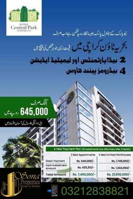 SPECIAL DISCOUNT 150,00 BAHRIA CENTRAL PARK APARTMENT EASY INSTALLMENT