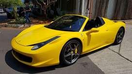 Ferrari 458 spider yellow 2013