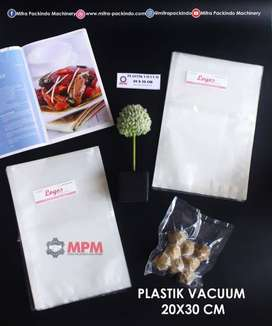 Plastik Kemasan Makanan Vacum Hampa Udara Vacuum Bag Sealer 20x30 cm