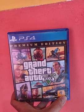 Bd GTA V Premium Edition kaset Ps4 PS 4