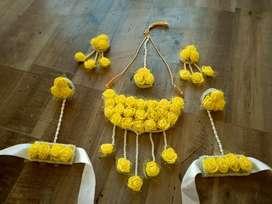 Bridal Flower Jewellery Set for haldi Mehandi Baby Shower