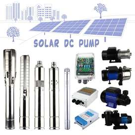 Solar DC Submersible Pump. 1.1 KW with Controller, 1 Inches flow