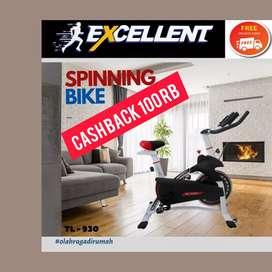 spinning bike total fitnes TL-930 G-83 II alat fitnes II treadmill