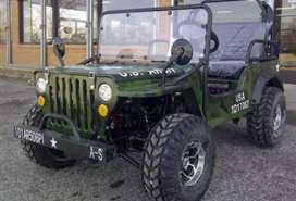 Willy modified jeep green colour
