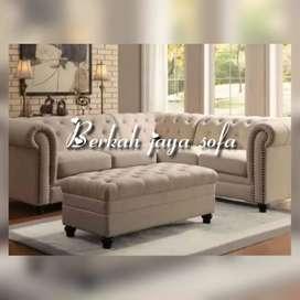 sofa selonjor kancing