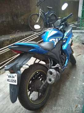 Suzuki Gixxer SF BLUE  rate is fixed