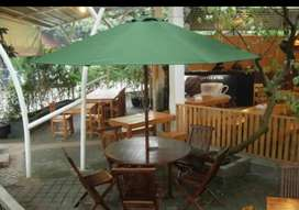 Meja cafe outdoor,meja payung,meja parasol,kursi taman,kursi lipat