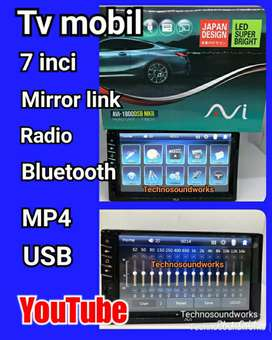 Tv mobil mp4 bs youtube gps tape headunit for paket sound, double din
