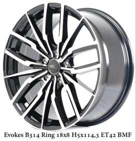 Velg murah harga distributor EVOKES B314 HSR R18X8 H5X114,3 ET42 BMF