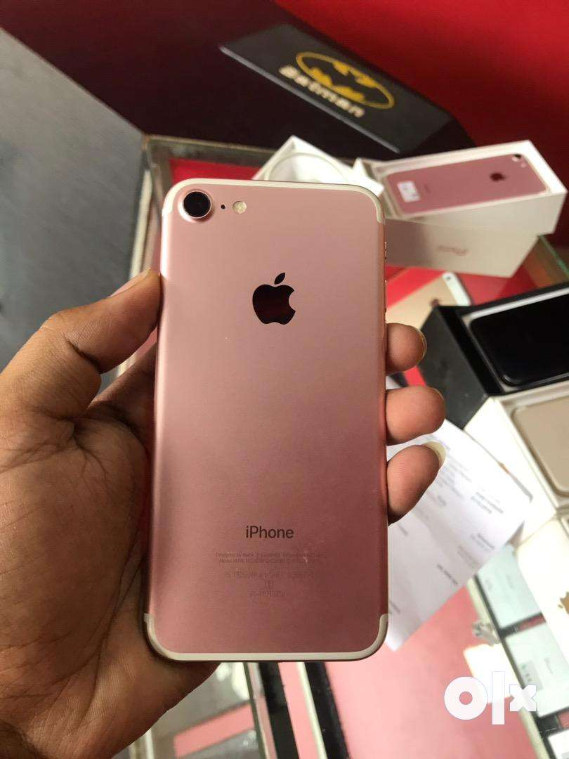 iphone 7 (256gb) rose gold colour 1 year used 0