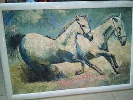 Rare Painting . Oil on canvas with frame.