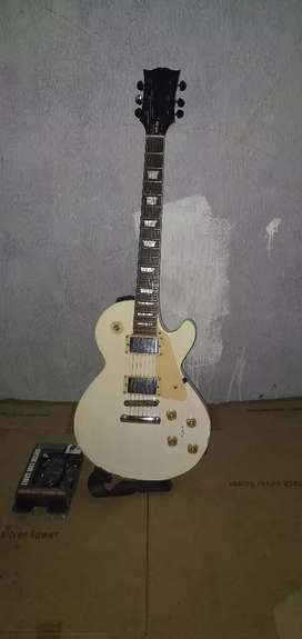 Gitar gibson jadul kayu matang