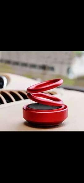 Car accesiories perfume fragrance solar power ring rotating