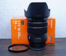 Lensa Sony 18-105 mm F4 G Lens OSS Mulus Bonus Filter UV
