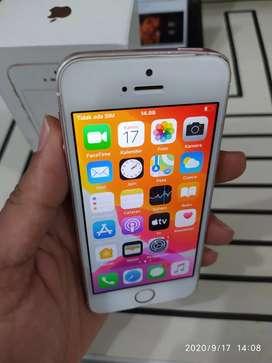 IPHONE 5 SE Warna ROSEGOLD 16Gb SECOND FULLSET