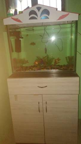 Fish tank and table new