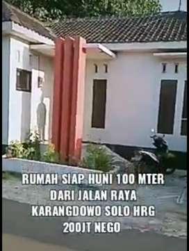 Jual rumah siap huni lokasi karangdowo