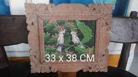 Ukiran Lukisan Bali 33x38 CM
