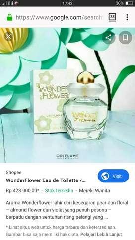 jual parfum oriflame merk wonder flower eau de toilette
