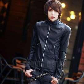 Jaket Black Hunter Leather Korean Style - SK56