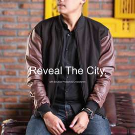 Jaket Baseball Comby Dark Brown Collection SK48