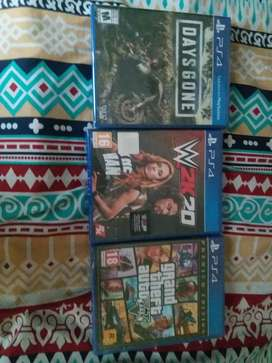 ps4 games brand new sealed pack gta v wwe 2k20 days gone