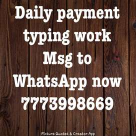 *Simple English typing work  *Get paid daily for typing work  *Own com