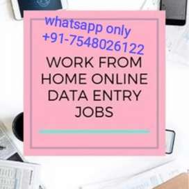 Online part time work from home