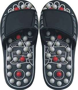 Foot Massager thru sporting footwear with a cushioned internal sole