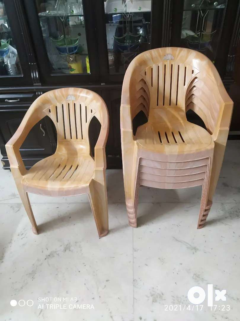 Supreme plastic chairs 6 nos.