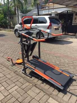 Treadmill manual fitur lengkap