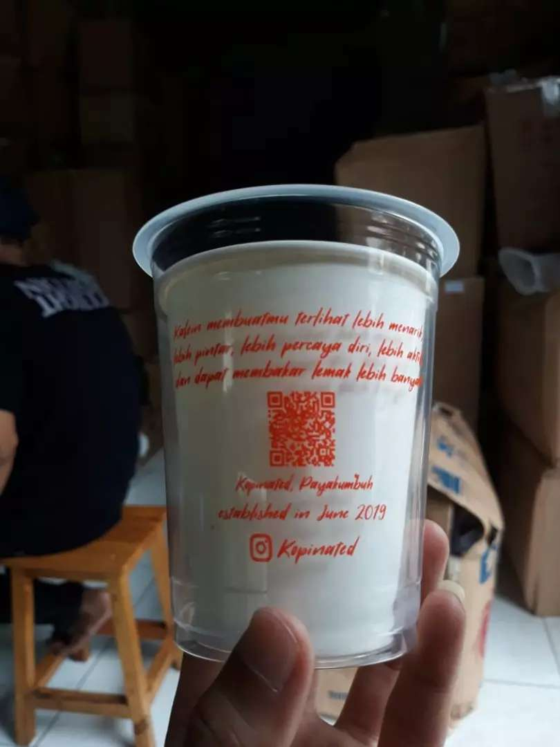 Promo gelas plastik CUP PP 14oz 7gram 0