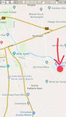 2Katha ( RED DOT IS THE LOCATION) Near Jorhat Engg College