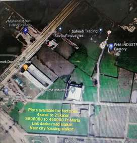 Industrial plots for sale daska road sialkot