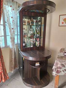 Home Bar with glass shelf