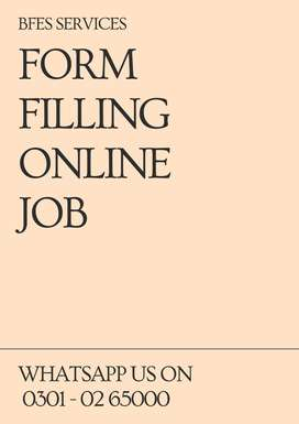 Apply with laptop, Form Filling online job at home for students