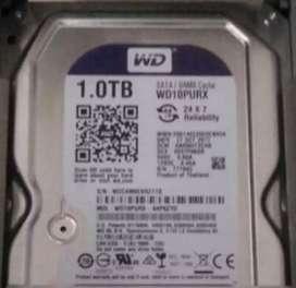 Hard disk WD 1tb barang baru & merk green power