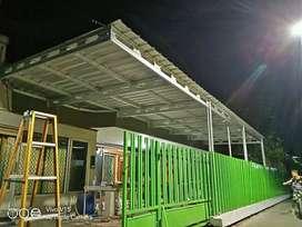 Kanopi,plafon pvc, gypsum, pagar, alumunium dan atap baja ringan awet