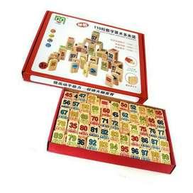 Mainan Edukatif / Edukasi Anak - Arithmatic Domino Angka Kayu Wooden